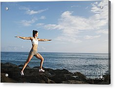 Female Doing Yoga Acrylic Print by Brandon Tabiolo - Printscapes