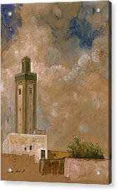 Fes Morocco Orientalist Painting Acrylic Print by Juan  Bosco