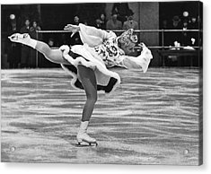 Figure Skater Melitta Brunner Acrylic Print by Underwood Archives