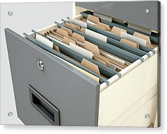 Filing Cabinet Drawer Open Generic Acrylic Print