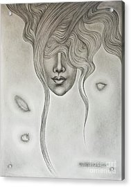 Floating Sorrow Acrylic Print by Fei A