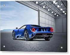Acrylic Print featuring the digital art Ford Gt by Peter Chilelli