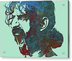 Frank Zappa Stylised Pop Art Drawing Potrait Poser Acrylic Print by Kim Wang