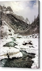 Freeze-up At Dan Creek Acrylic Print
