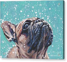 Acrylic Print featuring the painting French Bulldog by Lee Ann Shepard