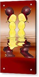 Fresh Ripe Mango Fruits Acrylic Print by David French
