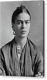Acrylic Print featuring the painting Frida Kahlo by Pg Reproductions