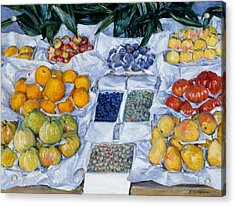 Fruit Displayed On A Stand Acrylic Print