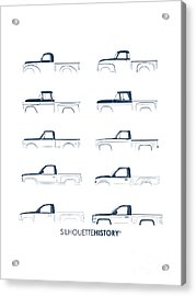 Fullsize Pickup Silhouettehistory Acrylic Print