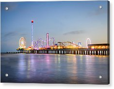 Galveston Pleasure Pier Sunset Acrylic Print