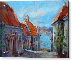 Gamle Bergen Acrylic Print by Joan  Jones