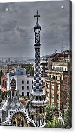 Gaudi's Church Acrylic Print by Isaac Silman