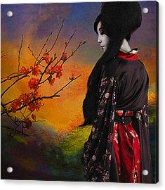 Geisha With Quince Acrylic Print