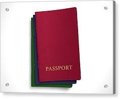 Generic Passport Stack  Acrylic Print