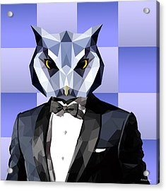 Geometric Owl Acrylic Print by Gallini Design