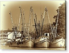 Acrylic Print featuring the photograph Georgetown Shrimpers by Bill Barber