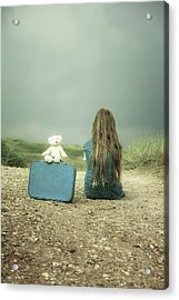 Girl In The Dunes Acrylic Print by Joana Kruse