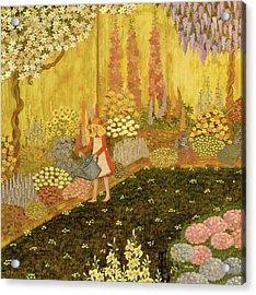 Girl In The Garden Acrylic Print by Ditz