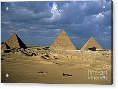 Giza Pyramids Acrylic Print by Sami Sarkis