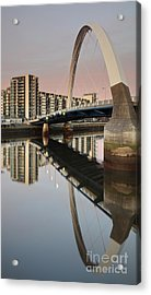 Glasgow Clyde Arc Bridge At Sunset Acrylic Print
