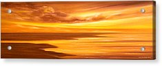 Golden Panoramic Sunset Acrylic Print