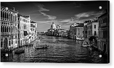 Acrylic Print featuring the photograph Gondola On The Grand Canal by Andrew Soundarajan