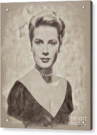 Grace Kelly, Actress And Princess Acrylic Print by John Springfield