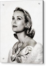 Grace Kelly, Vintage Hollywood Actress Acrylic Print by John Springfield