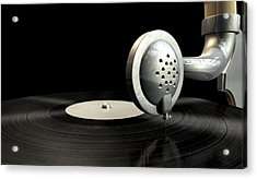 Gramophone And Record Acrylic Print by Allan Swart