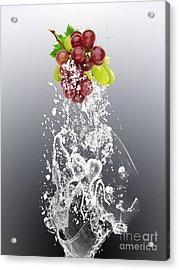 Grape Splash Acrylic Print