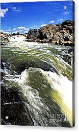 Great Falls Of The Potomac River Acrylic Print by Thomas R Fletcher