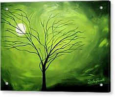 Green Night I Acrylic Print by Linda Powell