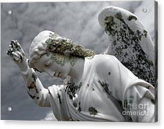 Acrylic Print featuring the sculpture Grieving Angel by Yurix Sardinelly