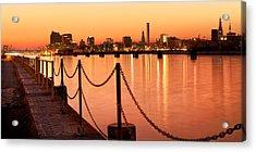 Acrylic Print featuring the photograph Hamburg Skyline by Marc Huebner