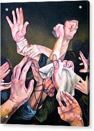 Hands Acrylic Print by Douglas Manry