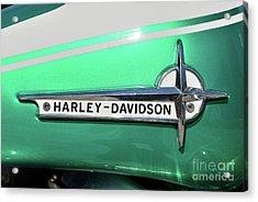 Harley-davidson Badge Acrylic Print by George Atsametakis