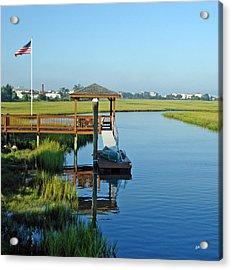 Acrylic Print featuring the photograph High Tide West Salisbury St Bridge by Phil Mancuso