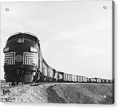 Historic Freight Train Acrylic Print by Omikron