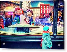 Holiday Widow Display In New York Acrylic Print