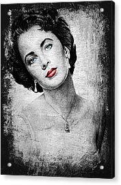 Hollywood Greats Elizabeth Taylor Acrylic Print