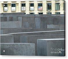 Acrylic Print featuring the photograph Holocaust Memorial Berlin by Erik Falkensteen