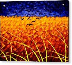 Homage To Van Gogh Acrylic Print by John  Nolan