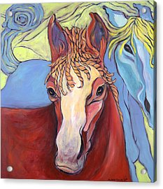 Acrylic Print featuring the painting 2 Horses by Michelle Spiziri