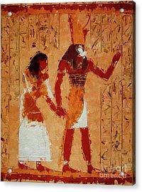 Horus, Egyptian God By Mary Bassett Acrylic Print