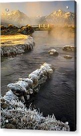 Hot Creek In Winter Acrylic Print