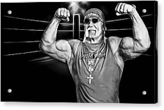 Hulk Hogan Wrestling Collection Acrylic Print by Marvin Blaine