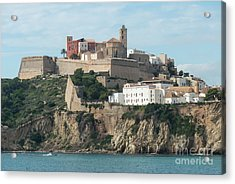 Ibiza Town And Castle Acrylic Print