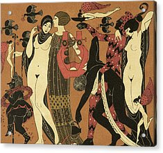 Illustration From Les Chansons De Bilitis Acrylic Print by Georges Barbier