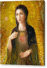 Acrylic Print featuring the painting Immaculate Heart Of Mary by Smith Catholic Art