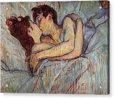 In Bed, The Kiss  Acrylic Print